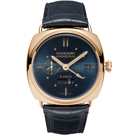 Panerai Radiomir Swiss Automatic Watch-GMT Oro Rosso-45mm 8 Days Power reserve PAM00538