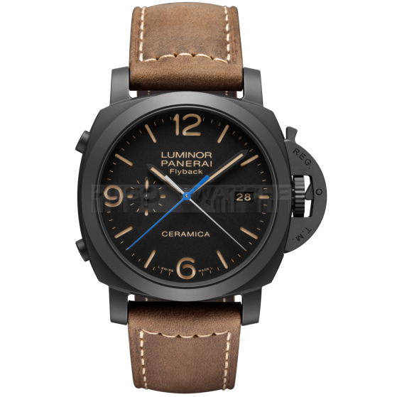 Panerai Luminor 1950 3 Days PAM00580 Automatic Flyback Ceramica Watch 44MM