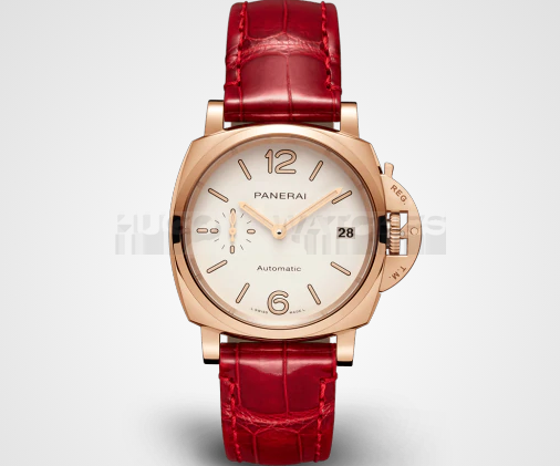 Panerai Luminor Due Gold Red Leather PAM01045 Replica Automatic Watch 38MM