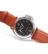 Panerai PAM 00111 Luminor Marina Mens Automatic Watch Brown Leather Strap