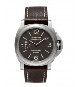 Panerai Luminor Marina 8 Days Titanio Mechanical Brown Dial Mens Watch PAM00564