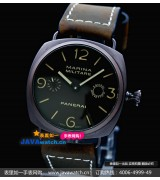 Panerai Marina Militare Black Seal Mens Automatic PVD Black Swiss 7750