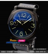 Panerai Black Seal Mens Automatic PVD Black Swiss 7750