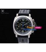 Panerai PAM 00253 Luminor Flyback Mens Automatic Stainless Steel Black Swiss 7750
