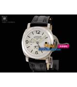 Panerai Luminor GMT Mens Automatic Stainless Steel White Swiss 7750