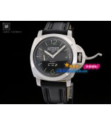 Panerai PAM 00233 Luminor 1950 8 Days GMT Mens Automatic Stainless Steel Black Swiss 7750