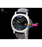 Panerai PAM 00320 Luminor GMT Mens Automatic Stainless Steel Black Swiss 7750(Black)