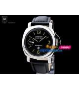 Panerai PAM 00005 Luminor Marina Mens Automatic Black Leather Strap Swiss 7750