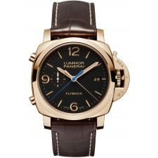 Panerai Luminor 1950 3 Days Chrono Flyback Black Dial Mens Watch PAM00525