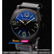 Panerai Black Seal Mens Automatic PVD Black Swiss 7750