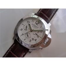 Panerai PAM 00236 Luminor Chronograph Daylight Mens Automatic Stainless Steel White Swiss 7750