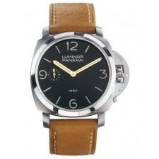 Panerai Luminor 1950 PM00127 Handwound Watch Brown Leather Strap