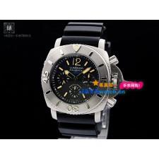 Panerai PAM 00187 Luminor Marina Mens Automatic Stainless Steel Black Swiss 7750