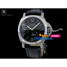 Panerai PAM 00321 Luminor GMT Mens Automatic Stainless Steel Black Swiss 7750