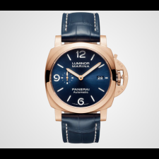 Panerai Luminor Marina Gold Sole Blu PAM01112 Replica Automatic Watch 44MM
